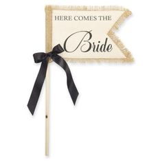 For Ayden to Carry down the aisle. Here Comes The Bride Wedding Flag 281259