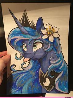 my little pony,Мой маленький пони,фэндомы,Princess Luna,принцесса Луна,royal,mlp traditional art,mlp art