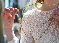 My outfit 'Let a little air in', wearing a pretty necklace from Bijoux Brigitte