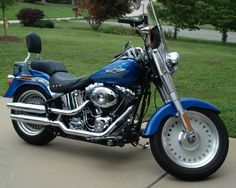 """Blue Harley-Davidson    Jack: """"Attached here are some pictures of my 2008 Harley-Davidson Fat ..."""