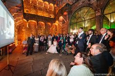 140523 Wedding @ Vincigliata - Alma Project Audio  Lights Courtyard lighting amber balcony by ALMA PROJECT - dinner