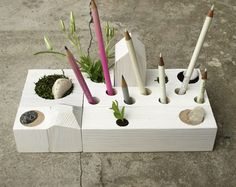 Zen Garden Organizer by KarolinfelixDream: Arrange the blocks as you like. #Desk_Organizer #KarolinefelixDream