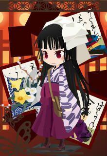 制服無いなら袴で通います!得意科目は古典と日本史。華道部所属。ナデシコとあだ名され普通科の中で浮いている(笑)