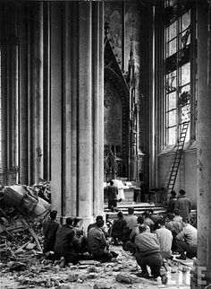 """""""Give us this day our daily bread.""""  The Mass during wartime."""