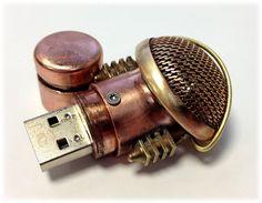 Steampunk 16GB USB Flash Drive Model 105 in a by BasementFoundry, $89.00