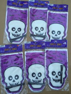 Halloween Party Treat Bags Goody Skeleton Skull Lot Favors 6 120 Total
