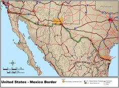 La frontera entre Estados Unidos y México es la segunda más larga del mundo (la primera es entre Estados Unidos y Canadá).