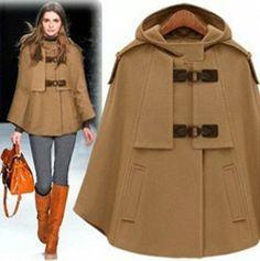 Love the cloak, boots & bag!!! Fashionable Cloaks and Coats for Fall 2013
