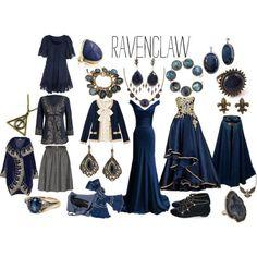 """""""A ravenclaw's wardrobe"""" by jennifer-shiress-hendrick on Polyvore:"""