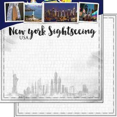 New York Scrapbooking, New York Theme Party, Sheet Of Acid, Vacation Scrapbook, Scrapbook Paper, Scrapbook Layouts, How Are You Feeling, City Paper, Skyline