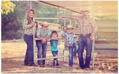 Back at the ranch - fun family session - ranch style, love the little and Real