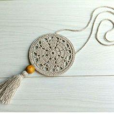 Best 12 Flax & Cotton Pendant and earrings Crochet Ornaments Crochet Jewelry Patterns, Crochet Earrings Pattern, Crochet Motifs, Crochet Bracelet, Crochet Accessories, Crochet Designs, Crochet Mandala, Crochet Gifts, Crochet Yarn