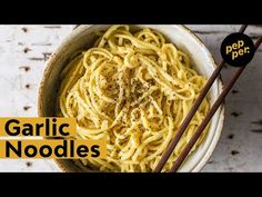 Garlic Noodles - YouTube Garlic Noodles, Rice Noodles, Pesto Sauce, Pesto Pasta, Best Italian Recipes, Italian Cooking, Pasta Dishes, Food To Make, Side Dishes