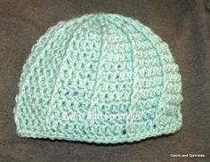 Swirls and Sprinkles: Free ribbed beanie crochet pattern