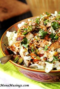 Menu Musings of a Modern American Mom: Grilled Ginger-Sesame Chicken Salad