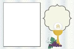 First Communion: Free Printable Invitations or Cards.