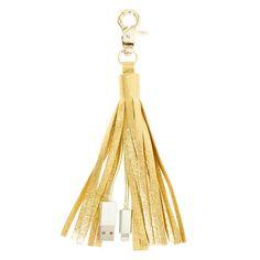 Gold Tassel USB Charging key fob $12 The Icing