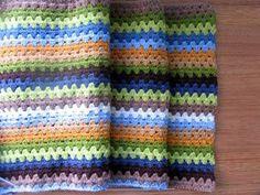 James' blanket: 8 ply, boyish colours