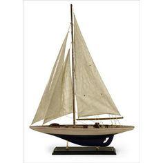 Antiqued Sailing Vessel   Nebraska Furniture Mart
