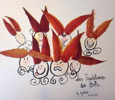 12ème jour - Photo de classe - Suite à mon esquisse rapide et frustrante d'hier, j'ai trouvé un moyen d'amadouer ces farouches Trublions des Bois. Ils raffolent de la pâte de coing !! C'est bien simple ils n'y résistent pas. C'était donc le deal d'hier : leur portrait contre cette délicieuse pâte de fruit. #flowleaf2015 #petitehistoire #dessin #conte #DominiqueBlancCreation #aliasLysaDomi #personnages #flowmagazine_fr #feuillesdautomne #EncreDeChine #Aquarelle