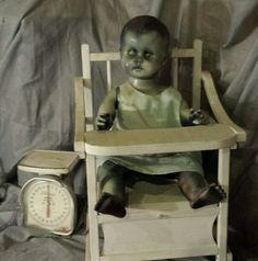"24"" antique creepy horror Halloween prop baby haunted house un-dead  zombie vtg | Dolls & Bears, Dolls, Art Dolls-OOAK | eBay!"
