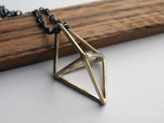 Bronze prism necklace