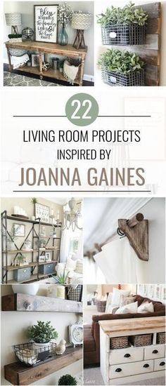 22 Joanna Gains Inspired Living Room Projects #joannagaines #livingrooms #home #diy #projects #fixerupper #farmhouse