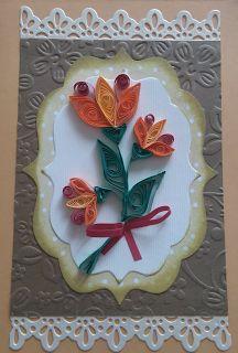 Kwiaty z quillingu