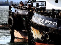 Brusco Tugs Heidi and Rachelle at the Cathlamet Docks
