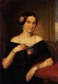 Podobizna dámy Autor: Mánes Václav (1793-1858)      Rozměr: 86 x 68 cm     Technika: Olej na plátně     Rok: 1850