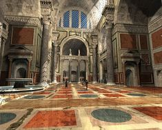 Artist's rendition of the Terme di Caracalla, the Baths of Caracalla Ancient Ruins, Ancient Rome, Ancient Art, Ancient History, Roman Architecture, Historical Architecture, Ancient Architecture, Pompeii And Herculaneum, Roman Republic