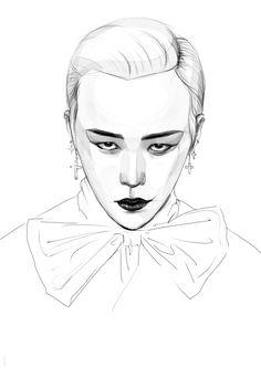 Cool Sketch. #G-Dragon