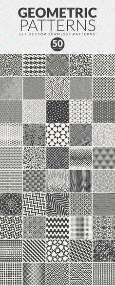 50 GEOMETRIC SEAMLESS PATTERNS by Creators Club on @creativemarket