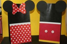 Bolsitas Minnie y Mickey