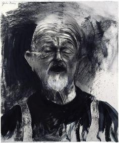 "Jim Dine self-portrait. From Self-Portrait Drawings from 1484 to Today"" Jim Dine, Self Portrait Drawing, Portrait Art, Cincinnati, James Rosenquist, Neo Dada, Claes Oldenburg, Purple Art, Jasper Johns"
