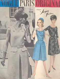 Love this 1965 Jacques Heim for Vogue dress pattern. Now to find it… ! #icandream | via Classic Style of Fashion (Fourth)