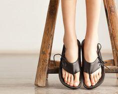 Black Handmade Sandals
