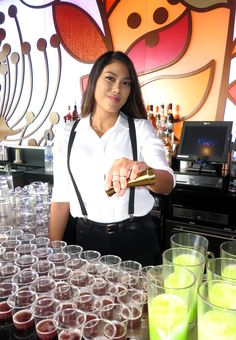 SKY Waikiki bartender helps kick off the Spring Surf Cocktails Collection on April 11, 2017