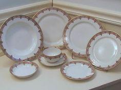 28 pieces Antique 1907 Limoges China T&V Tressmanes & Vogt Pattern #6892