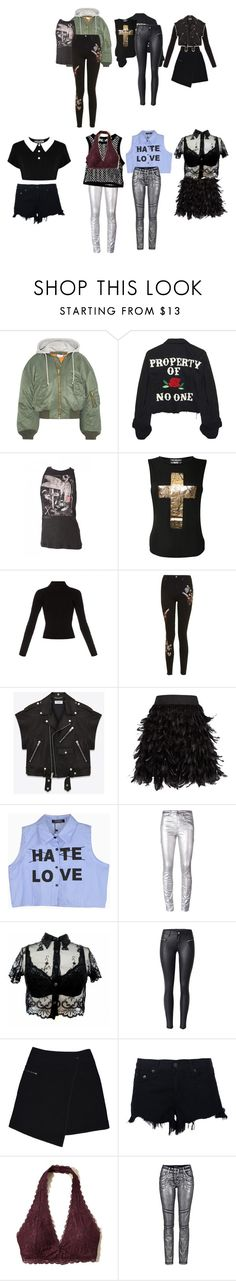 """Untitled #3150"" by aurorazoejadefleurbiancasarah ❤ liked on Polyvore featuring Vetements, High Heels Suicide, Religion Clothing, Haider Ackermann, Topshop, Yves Saint Laurent, Killstar, Alice + Olivia, Étoile Isabel Marant and Cheap Monday"