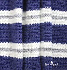 Crochet Bold Stripes Blanket