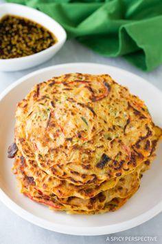 Perfect Korean Pancakes - Pajun (Pajeon) Recipe #vegetarian