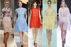 4. Lace up: From luxe layered skirts to bubblegum pink cocktail dresses, this season there's a lace look for every mood.
