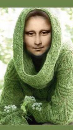 Real Mona Lisa, Mona Lisa Smile, Van Gogh, Mona Lisa Parody, Illusion Art, Les Oeuvres, Illusions, Contemporary Art, Kiss