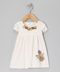 Loving this Tesa Babe Tan Pretty Posy Dress - Infant on #zulily! #zulilyfinds