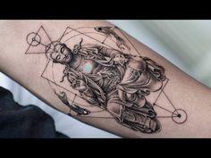 Yin Yang Tattoos, Buddha Tattoos, Time Tattoos, All Tattoos, Tatoos, Back Tattoo, I Tattoo, Buddhism Tattoo, Tattoo Time Lapse