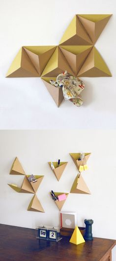 Pyramid Cardboard Storage Boxes by Papier Tigre Cardboard Storage, Cardboard Design, Cardboard Furniture, Cardboard Crafts, Diy Storage, Storage Boxes, Diy Paper, Paper Art, Paper Crafts