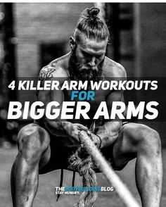 If your fitness goal is bigger arms then you really need to check out these 4 Killer Arm Workouts! Fit Board Workouts, Fun Workouts, Workout Board, Body Workouts, Workout Tips, Killer Arm Workouts, Forme Fitness, Biceps Workout, Ripped Workout
