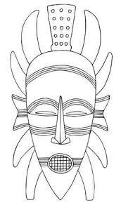 Image result for mascaras africanas molde