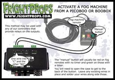 FrightProps Support & Training Center - Activate a fog machine from a PicoBoo or BooBox